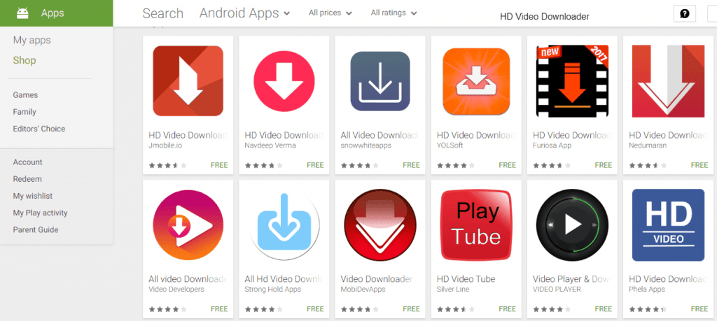 hd video downloader from play store