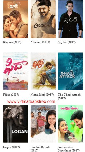 vidmate movies telugu
